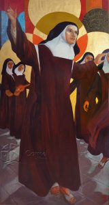 St. Teresa of Avila as painted by Sister Marie Celeste