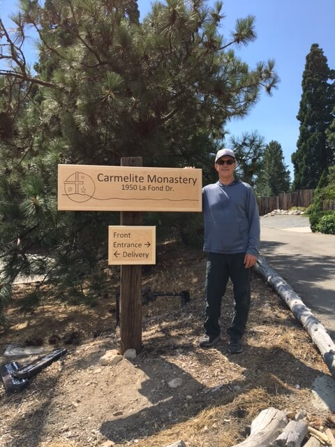 Carmel of Reno Gets a New Monastery Signpost