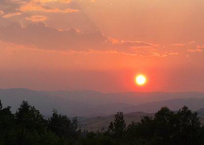 Sunset around the Monastery