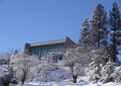 chapel winter view